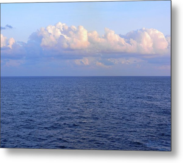 Sunrise From The Atlantic Ocean Metal Print