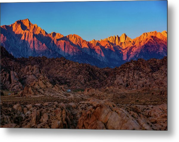 Sunrise Illuminating The Sierra Metal Print