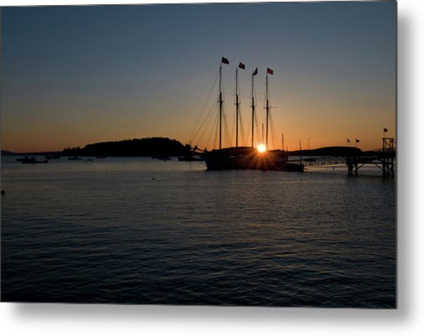 Sunrise In Bar Harbor Metal Print