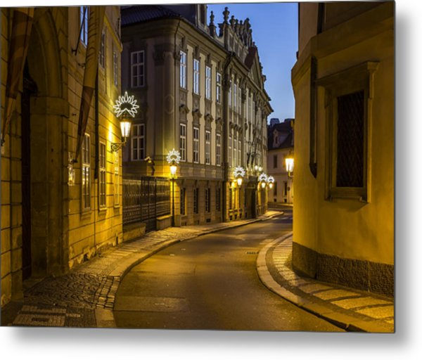 Sunrise In Baroque Prague Metal Print by Marek Boguszak