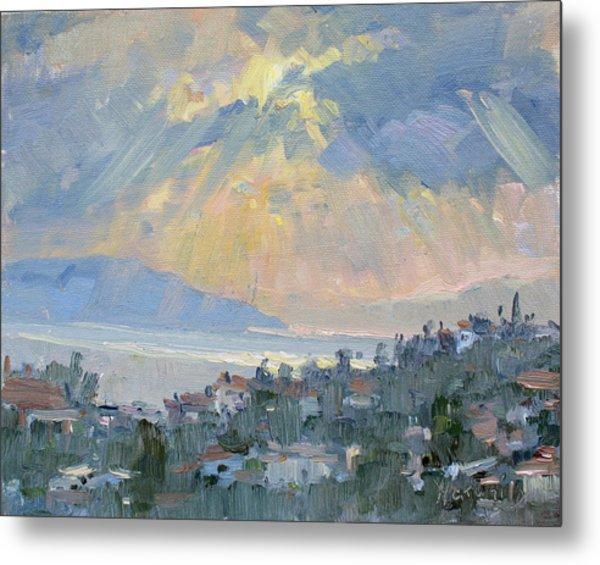 Sunrise In Dhilesi Athens  Metal Print