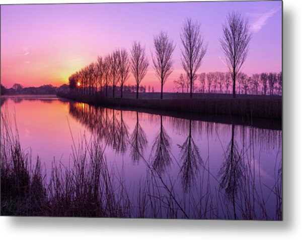 Sunrise In Holland Metal Print
