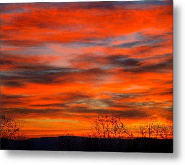 Sunrise In Ithaca Metal Print