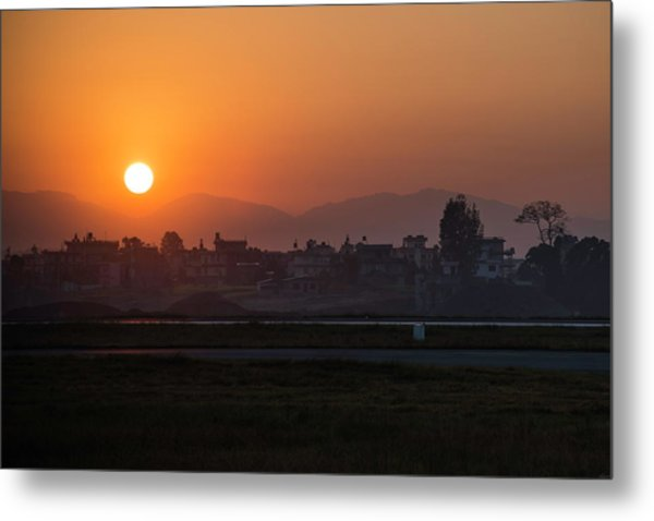 Metal Print featuring the photograph Sunrise In Kathmandu by Owen Weber
