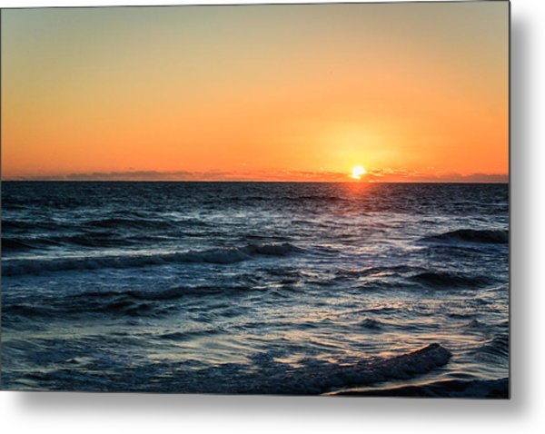 Sunrise In Nags Head Metal Print