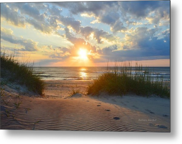 Sunrise In South Nags Head Metal Print