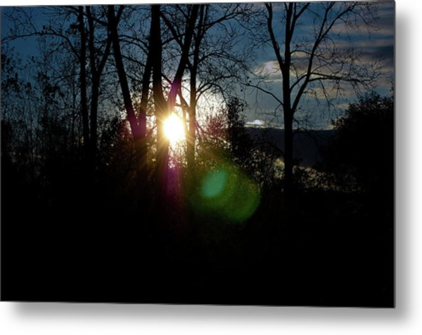 Sunrise In The Fall Metal Print by RonSher Brooks