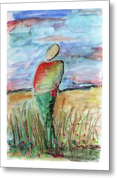 Sunrise In The Grasses Metal Print