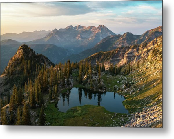 Sunrise In The Wasatch Metal Print
