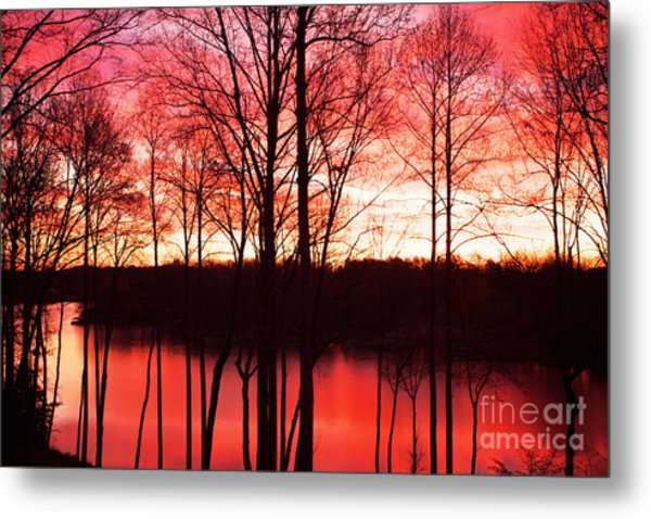 Sunrise Lake Norman North Carolina Metal Print