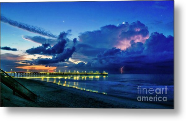 Sunrise Lightning Metal Print