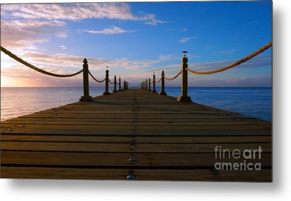 Sunrise Morning Bliss Pier 140a Metal Print