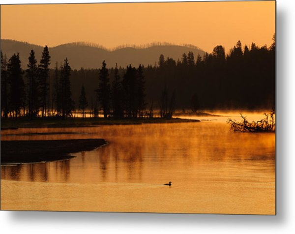Sunrise Near Fishing Bridge In Yellowstone Metal Print