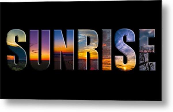 Sunrise Metal Print