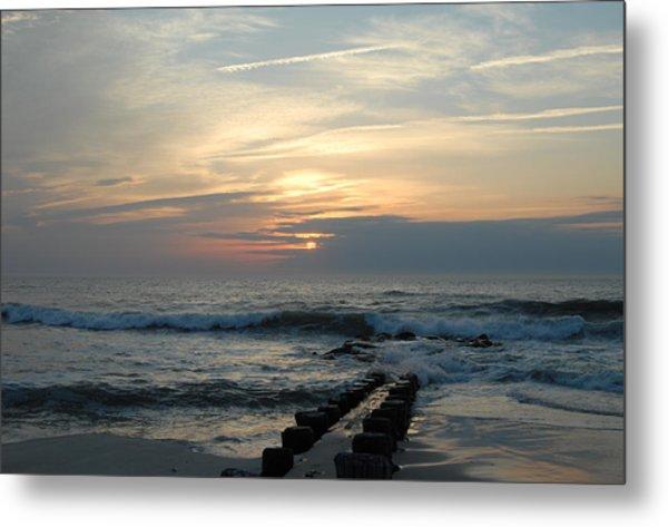 Sunrise Ocean 50 Metal Print by Joyce StJames
