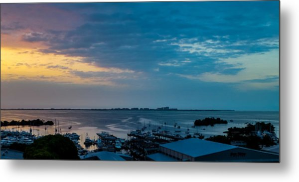 Sunrise On Biscayne Bay Metal Print