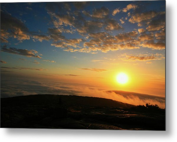 Sunrise On Cadillac Mountain Metal Print