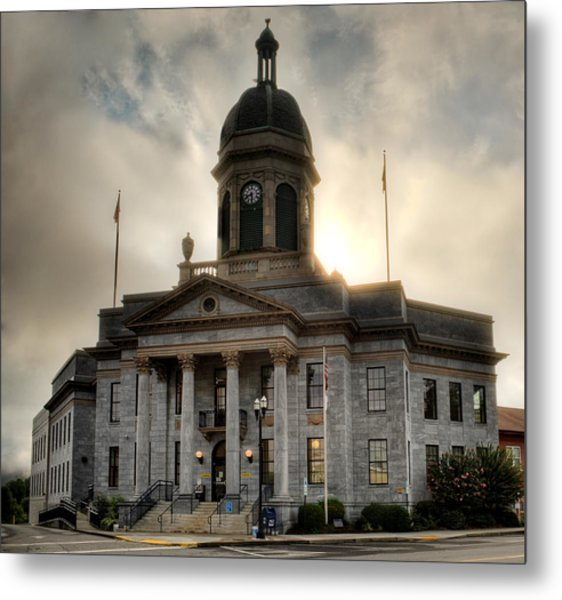 Sunrise On Cherokee County Courthouse Metal Print