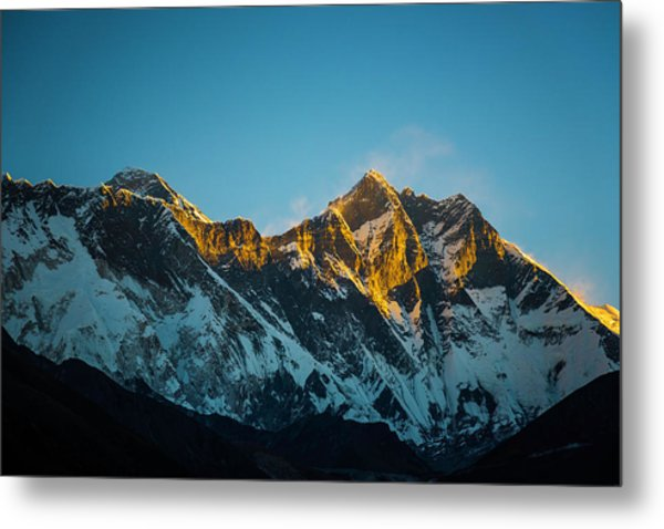 Metal Print featuring the photograph Sunrise On Everest by Owen Weber