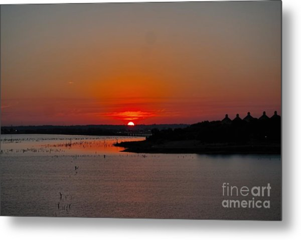 Sunrise On Lake Ray Hubbard Metal Print