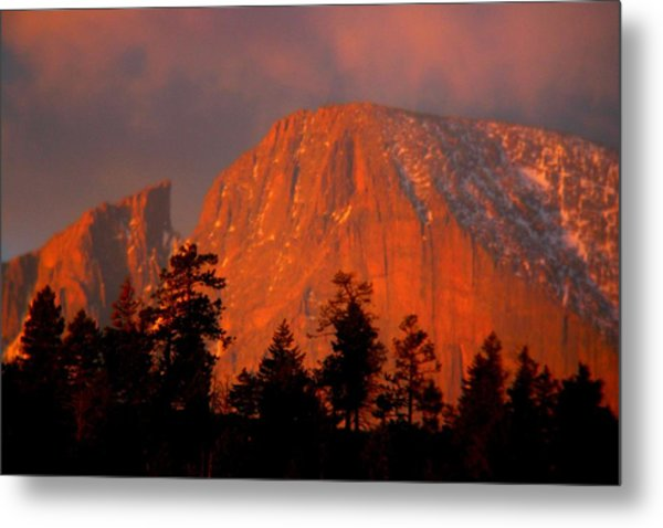 Sunrise On Long's Peak Metal Print