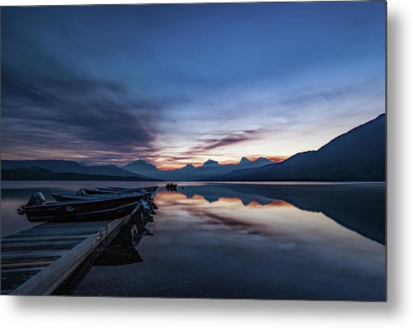 Metal Print featuring the photograph Sunrise On Mcdonald Lake by Lon Dittrick