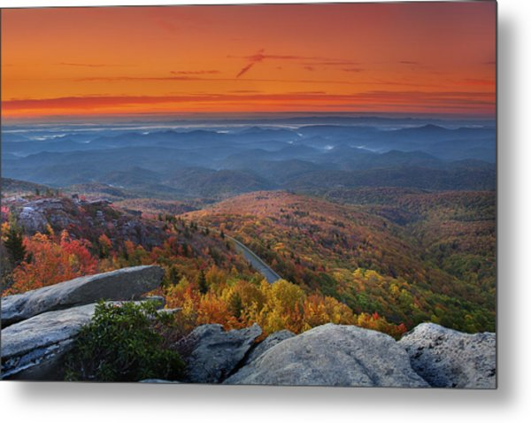 Sunrise On Rough Ridge  Metal Print