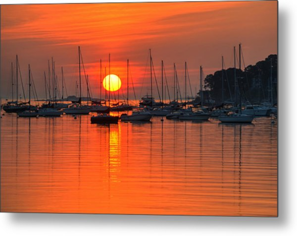 Sunrise On Salem Harbor Salem Ma Metal Print