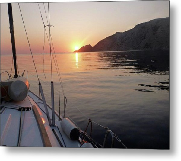 Sunrise On The Aegean Metal Print