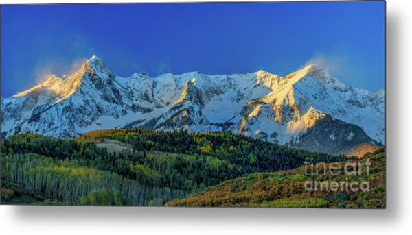 Sunrise On The Dallas Divide Metal Print