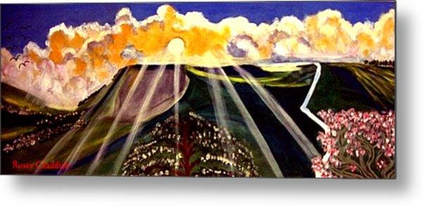 Sunrise On The Darren Mountain Metal Print