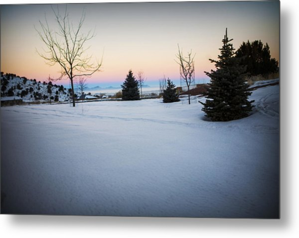 Sunrise On The Mountain Metal Print