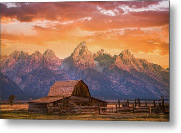 Sunrise On The Ranch Metal Print