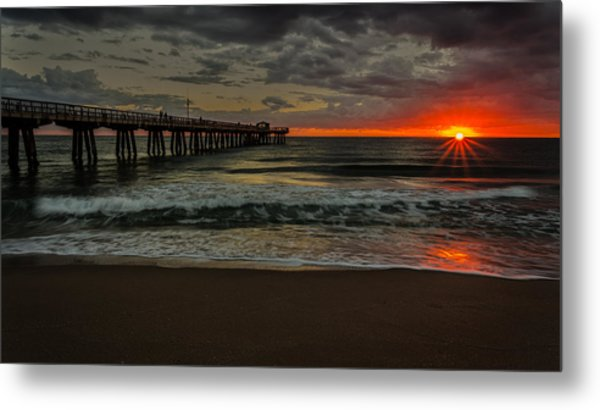 Sunrise On The Water Metal Print