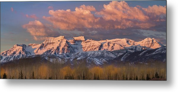 Sunrise On Timpanogos Metal Print