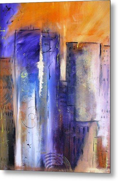 Sunrise On Twin Towers Metal Print