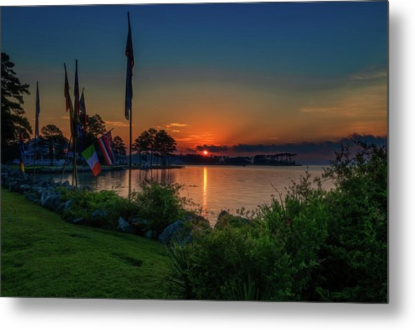Sunrise On The Neuse 3 Metal Print