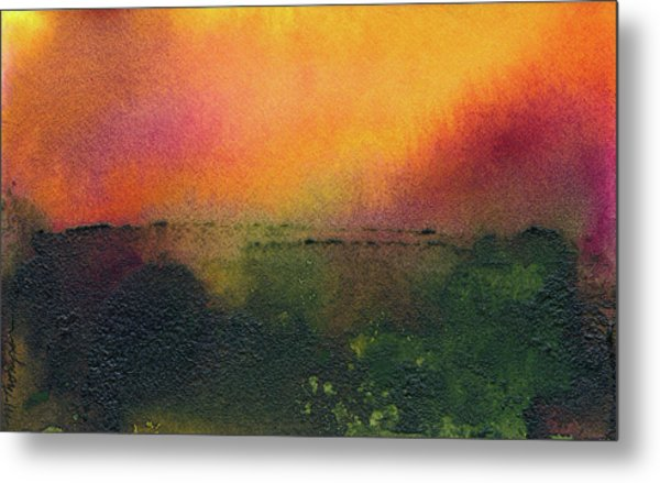 Sunrise Over A Marsh Metal Print