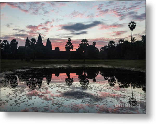 Sunrise Over Angkor Wat Metal Print