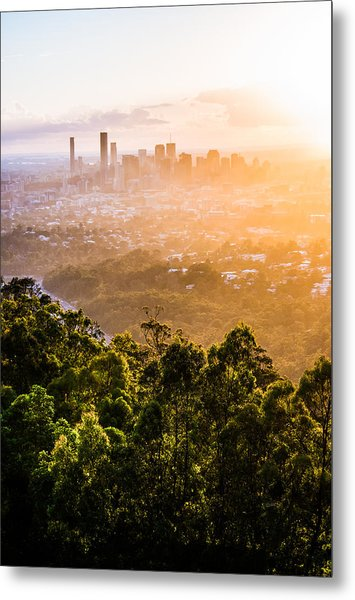 Sunrise Over Brisbane Metal Print