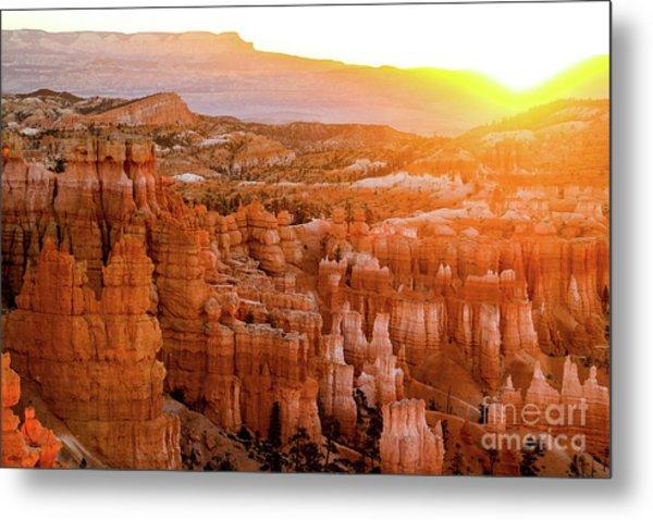 Sunrise Over Bryce Canyon Metal Print