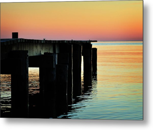 Sunrise Over Chesapeake Bay Metal Print