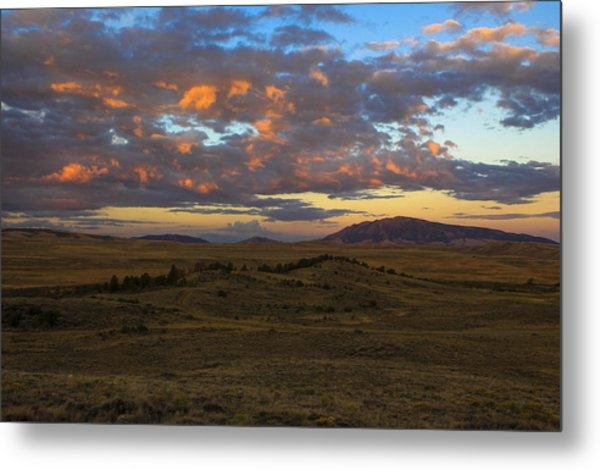 Sunrise Over Elk Mountain Metal Print