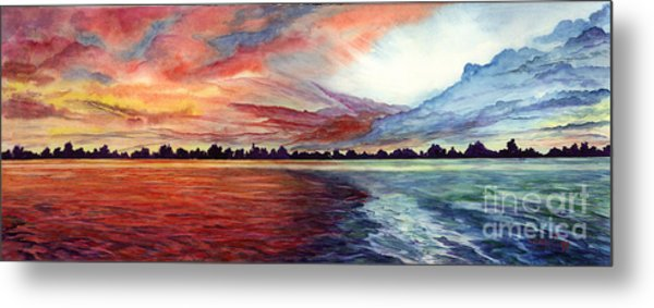 Sunrise Over Indian Lake Metal Print