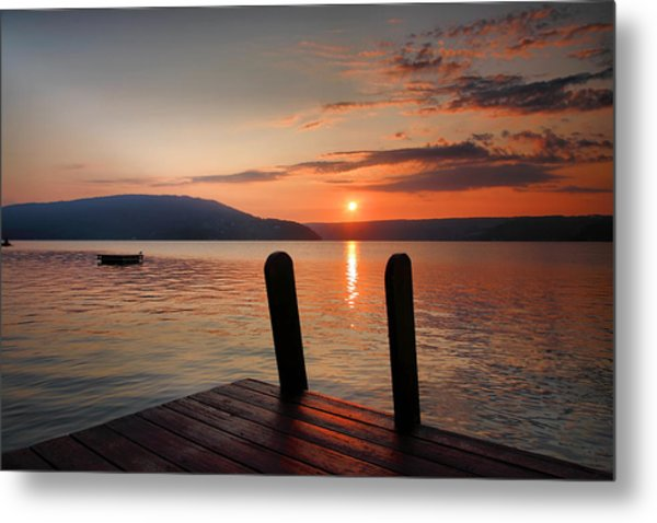 Sunrise Over Keuka IIi Metal Print