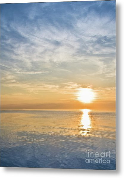 Sunrise Over Lake Michigan In Chicago Metal Print