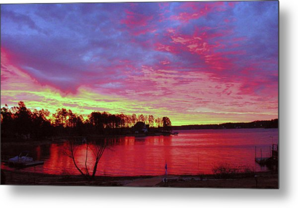 Sunrise Over Lake Murray Metal Print