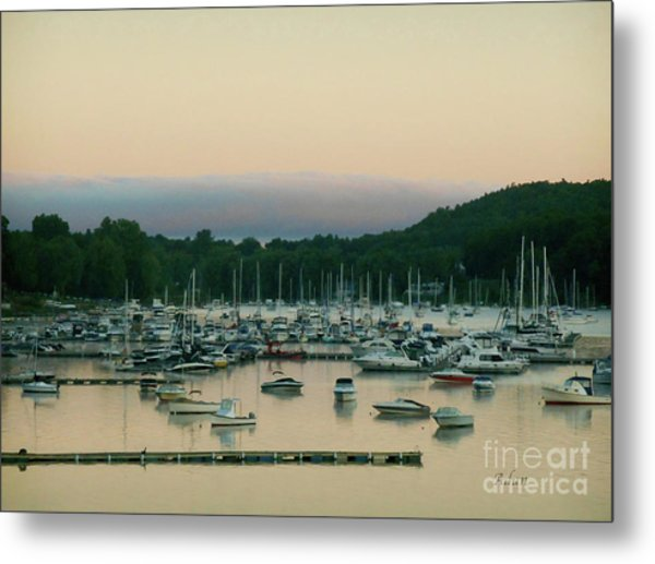 Sunrise Over Mallets Bay Variations - Three Metal Print