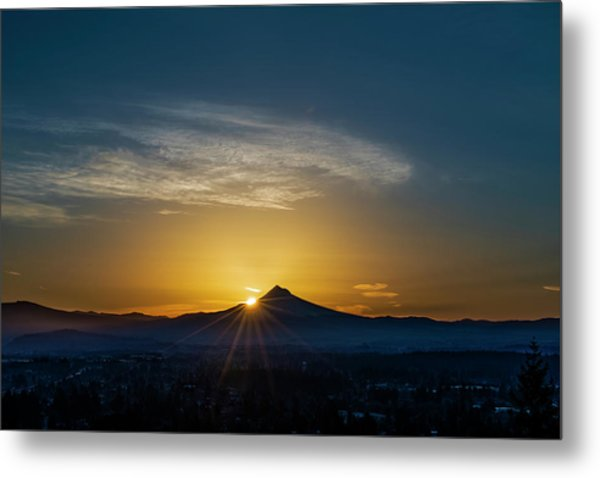 Sunrise Over Mt. Hood Metal Print