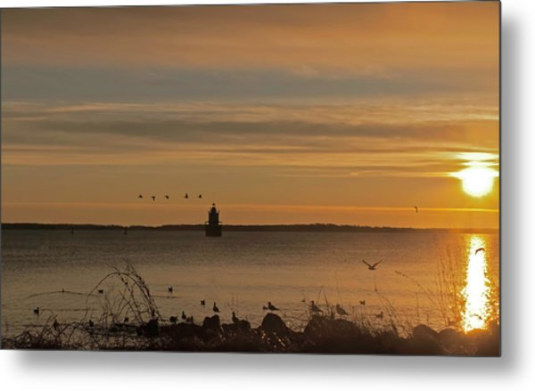 Sunrise Over New Bedford Metal Print